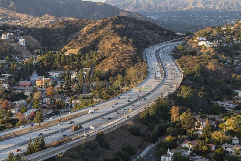 Glendale-Autobahn in der Los Angeles County Kalifornien lizenzfreies stockbild
