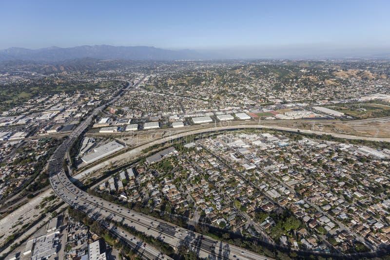Glendale-Autobahn in Los Angeles Kalifornien lizenzfreie stockfotos