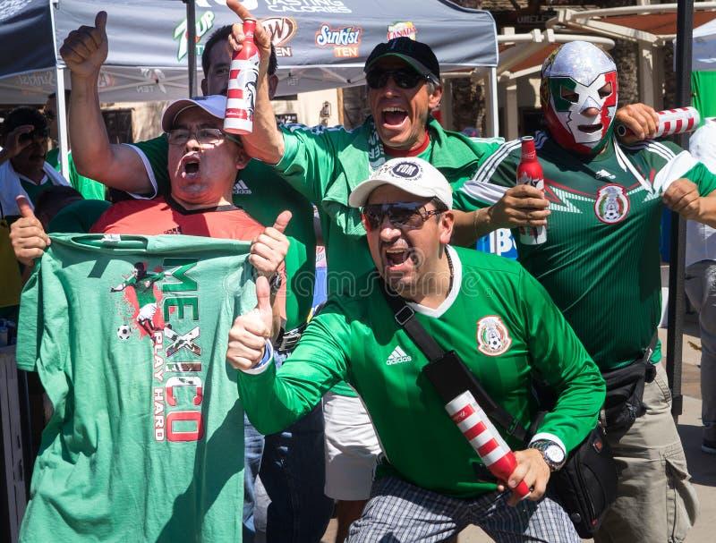 Glendale,Westgate,Phoenix,Arizona,USA, Jun 5th,2016. Mexico vs Uruguay 2016 Copa America Centenario. Colorful Mexico fans outside stadium prior to game royalty free stock photography