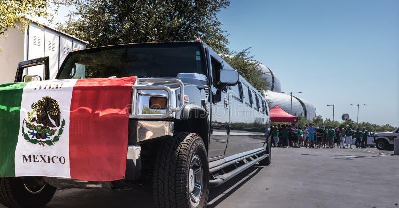Glendale,Westgate,Phoenix,Arizona,USA, Jun 5th,2016. Mexico vs Uruguay 2016 Copa America Centenario. Mexican fans arrive in thou stock photography
