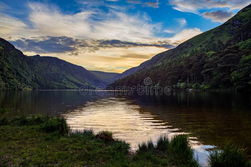 Glendalough日落 库存图片