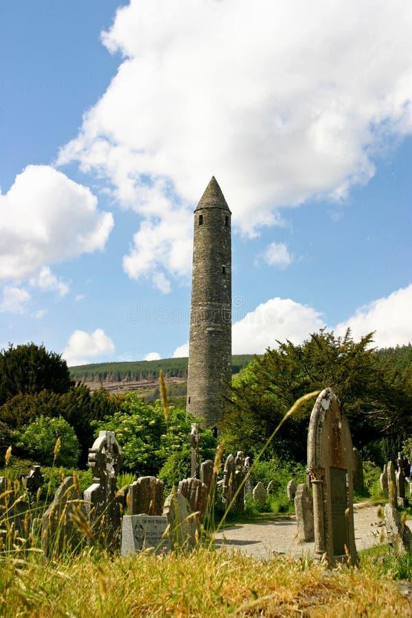 glendalough στρογγυλός πύργος στοκ εικόνες