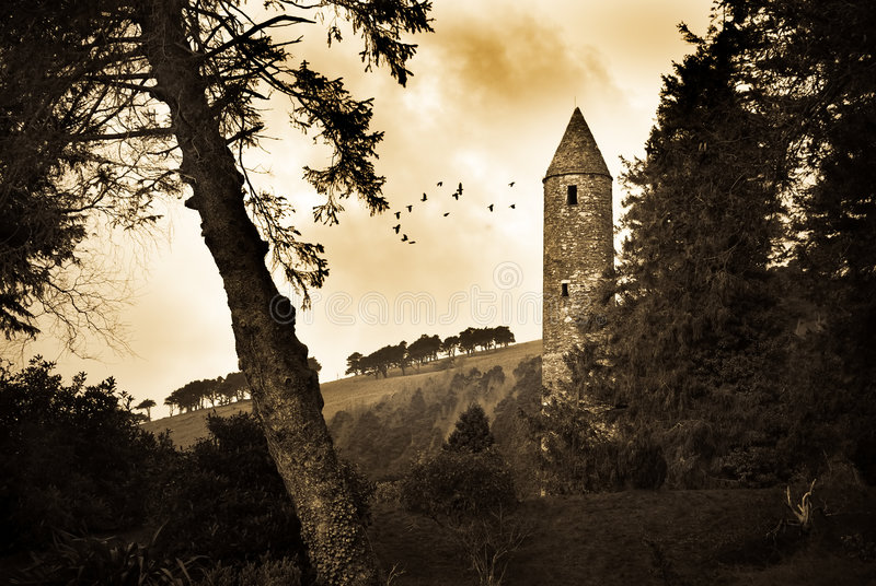 Glendalough immagini stock