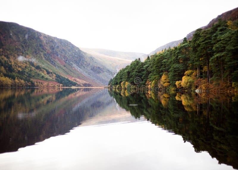 Glendalough Upper Lake in Autumn royalty free stock photo