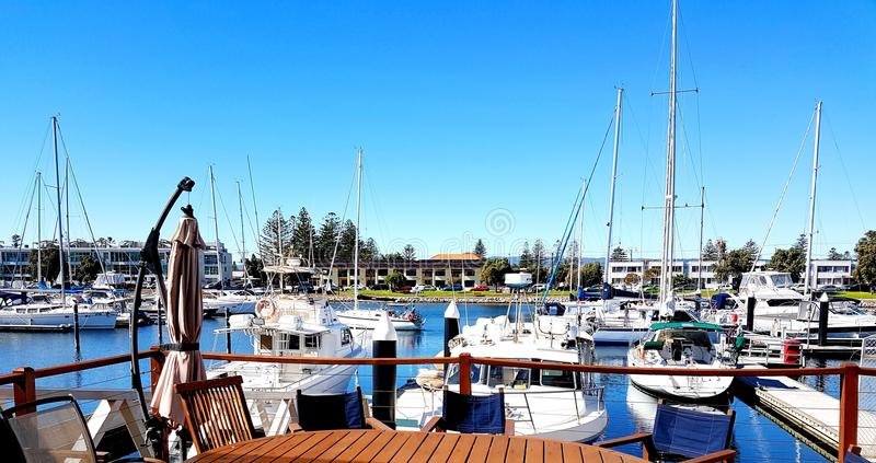 Glenelg小游艇船坞视图 图库摄影