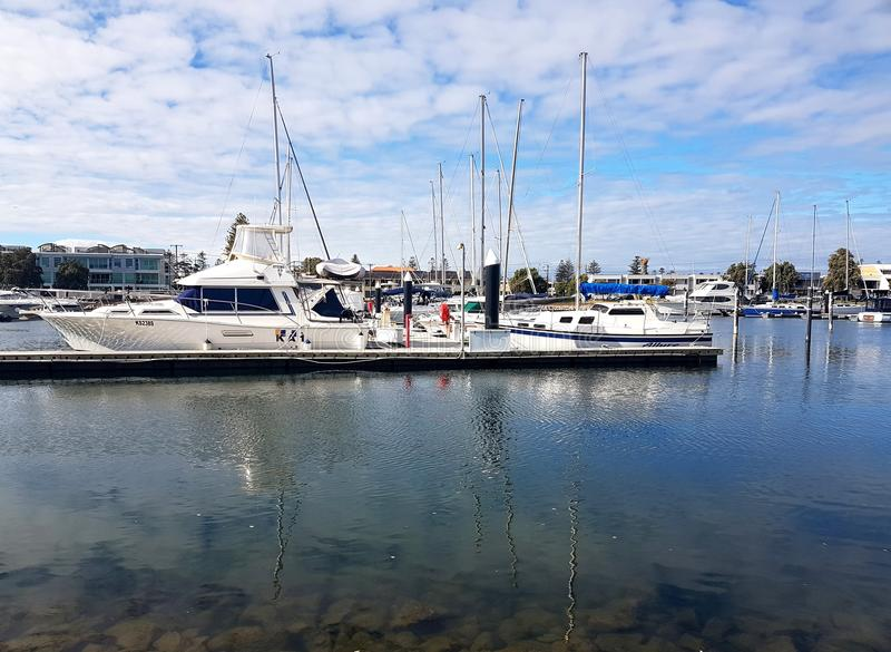Glenelg小游艇船坞视图 免版税库存照片