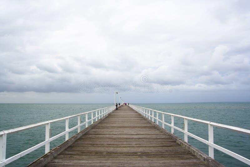 Glenelg jetty stock image