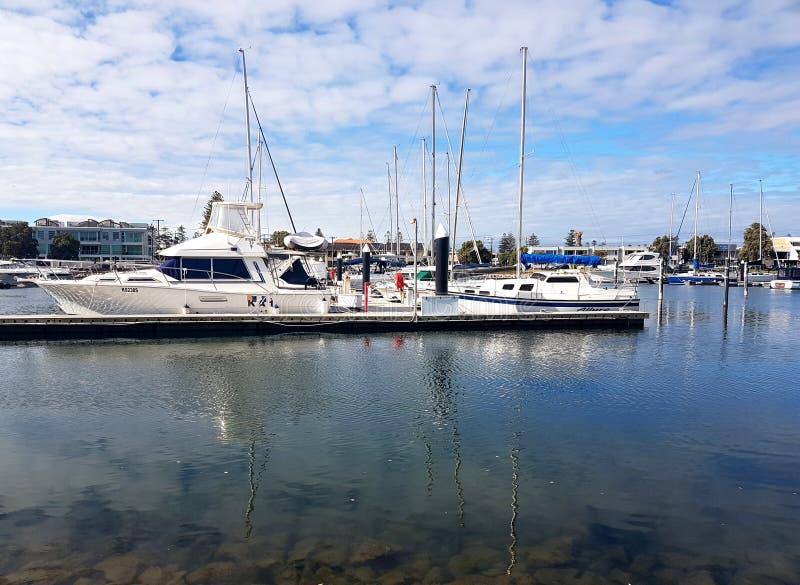 Glenelg Marina widok zdjęcie royalty free