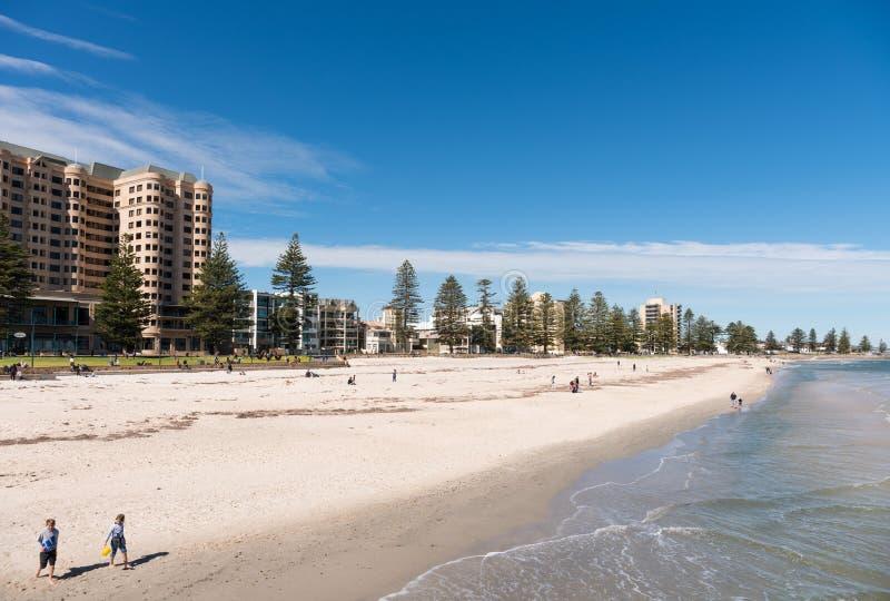 Glenelg plaża, Adelaide, Południowy Australia zdjęcia stock