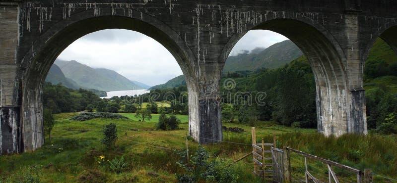 Glenfinnan高架桥的拱道 免版税库存图片
