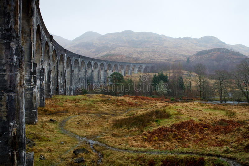 Glenfinnan bridge - Scotland. The highlands in Scotland are one of those places you want to visit again and again once you've been there. So desolate, so royalty free stock photography