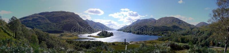 Glenfinnan Denkmalpanorama, schottische Hochländer lizenzfreie stockfotografie