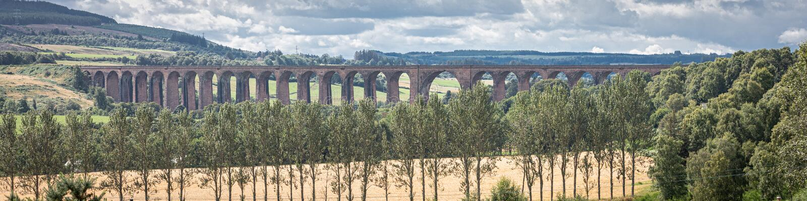 The Glenfinnan railway viaduct in Scotland royalty free stock images