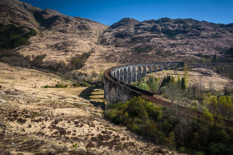 The Glenfinnan railway viaduct royalty free stock image
