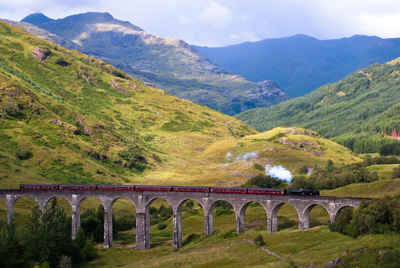 Glenfinnan Viaduct stock photography