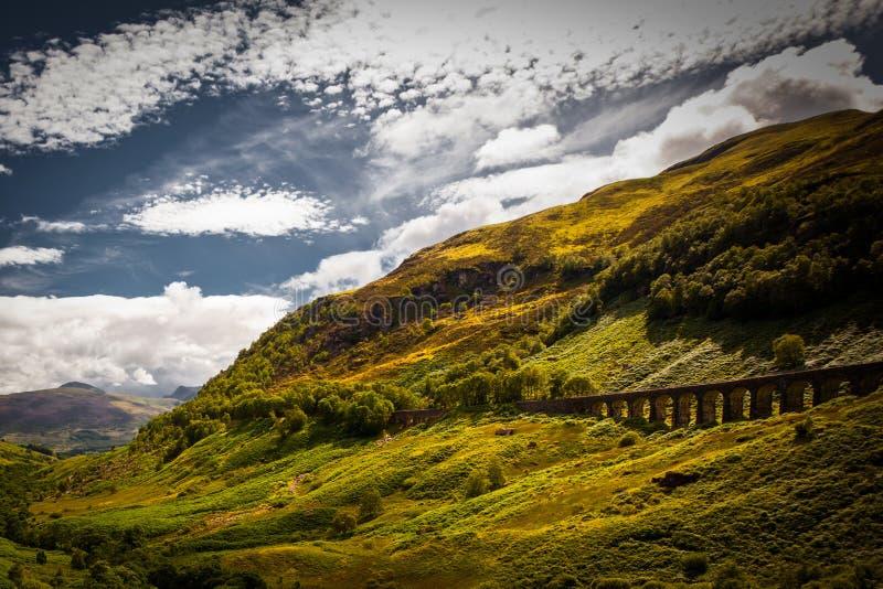 Glenfinnan Viaduct stockfotos