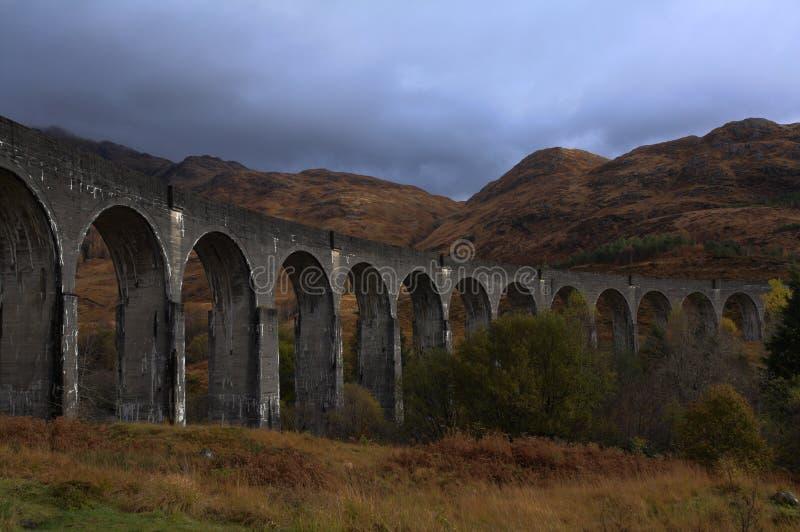 Glenfinnan viaduct in autumn royalty free stock photo