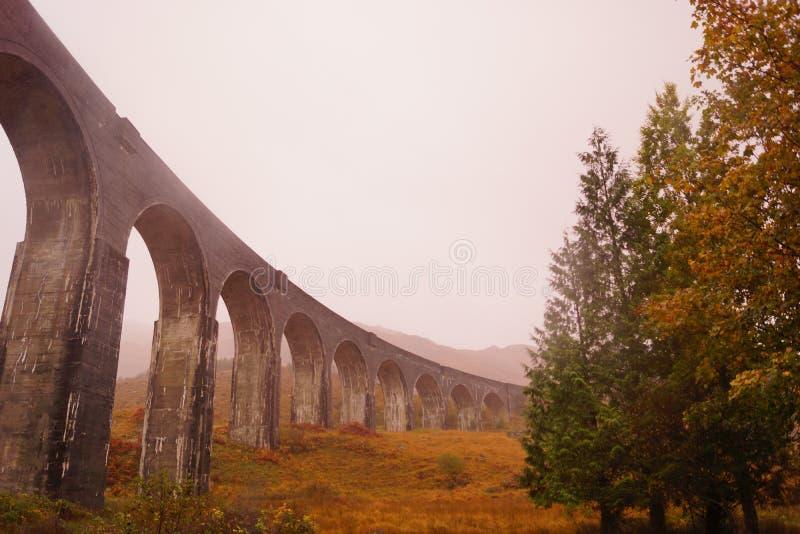 Glenfinnan Viaduct, Loch Sheil. Glenfinnan Viaduct, on the Western Highland Line, Glenfinnan, Scotland. This bridge is famous for being the bridge that the stock photos