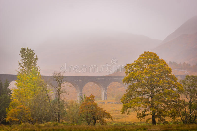 Glenfinnan Viaduct, Loch Sheil. Glenfinnan Viaduct, on the Western Highland Line, Glenfinnan, Scotland.nnThis bridge is famous for being the bridge that the stock images