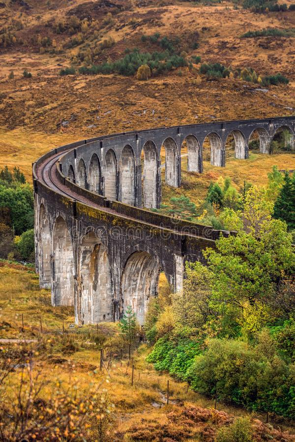 The Glenfinnan Viaduct royalty free stock photography