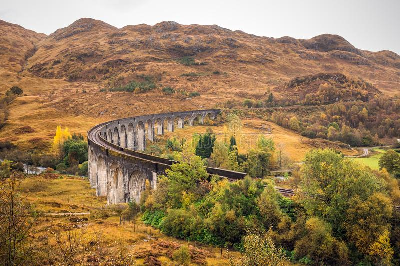 The Glenfinnan Viaduct stock images