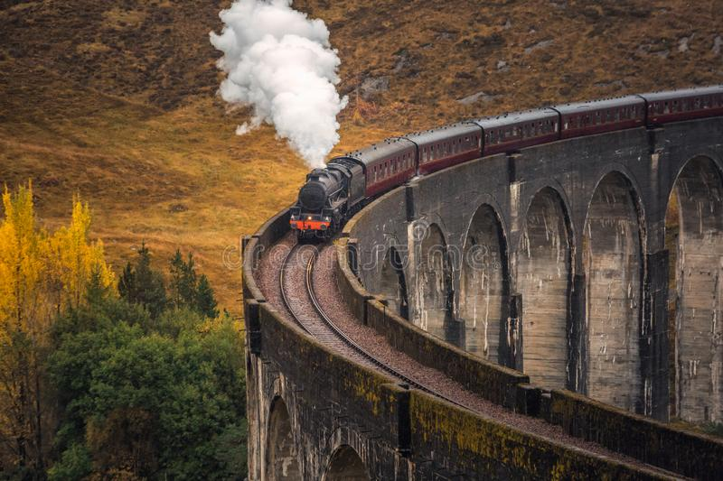 The Glenfinnan Viaduct royalty free stock image