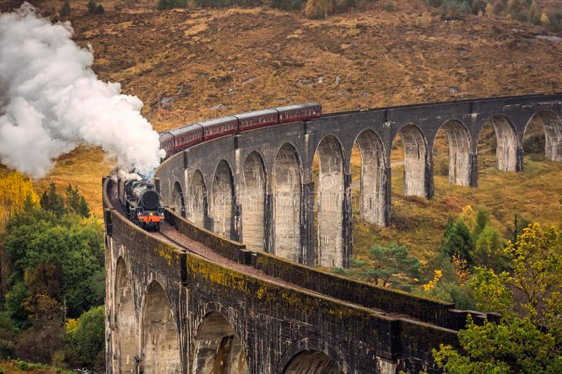 The Glenfinnan Viaduct stock photography