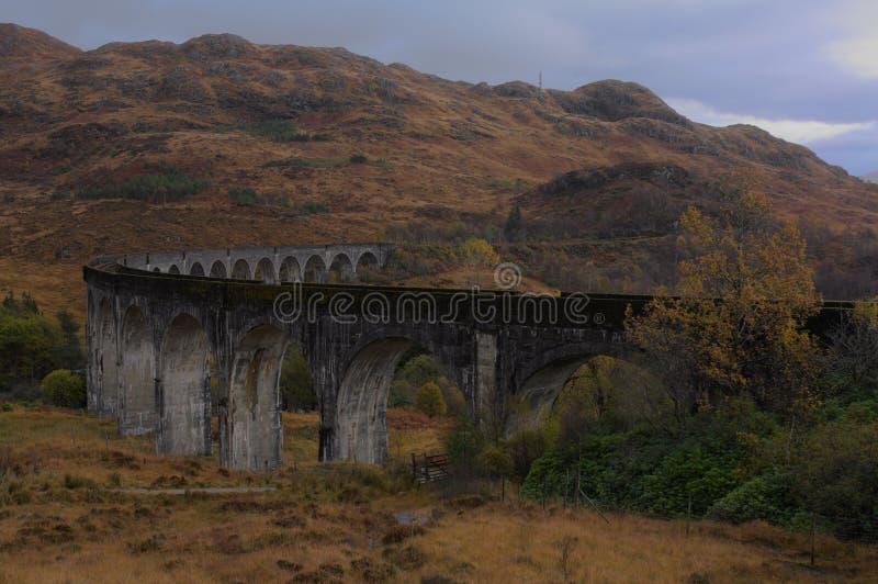 Glenfinnanviaduct in de herfst stock foto
