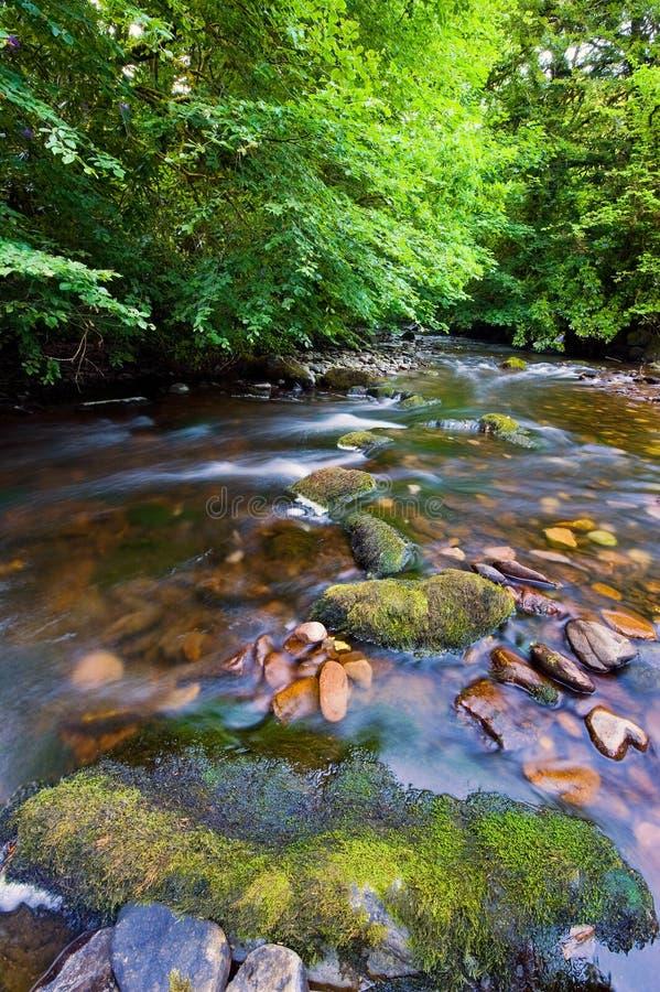 Glenmoylan Fluss stockbilder
