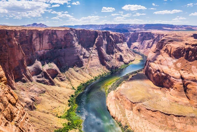 Glenn Canyon und der Colorado Arizona-Touristenattraktionen stockbilder