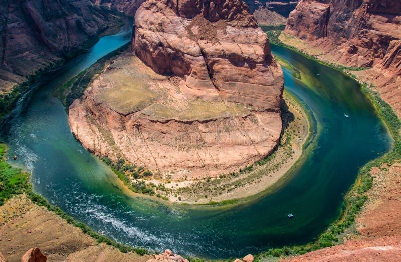 Glenn Canyon und der Colorado Schlucht-Hufeisenband Arizona-Touristenattraktionen stockbilder