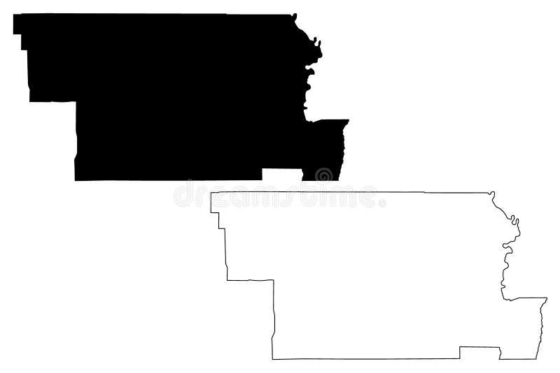 Glenn County, vetor do mapa de Califórnia ilustração royalty free