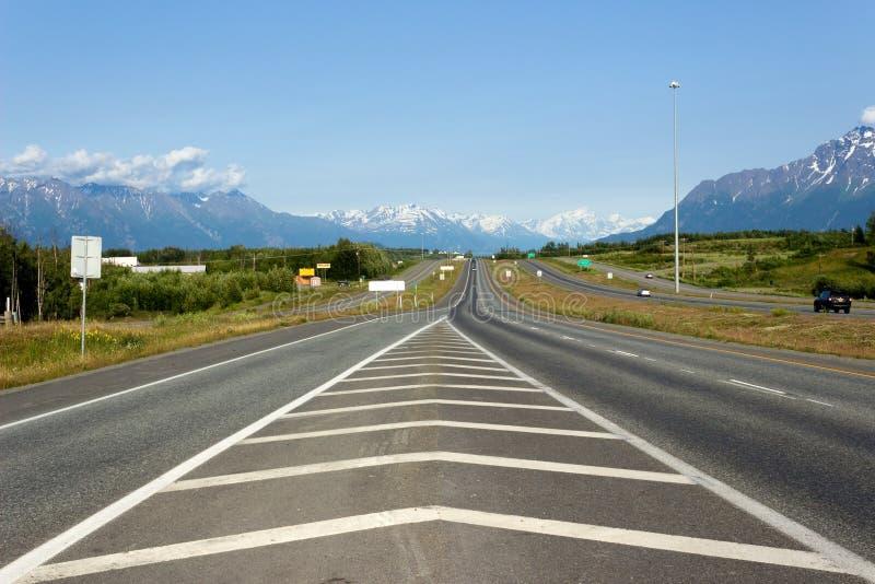 Glenn Highway, Alaska imágenes de archivo libres de regalías