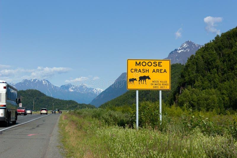 Glenn Highway, Alaska stockfoto