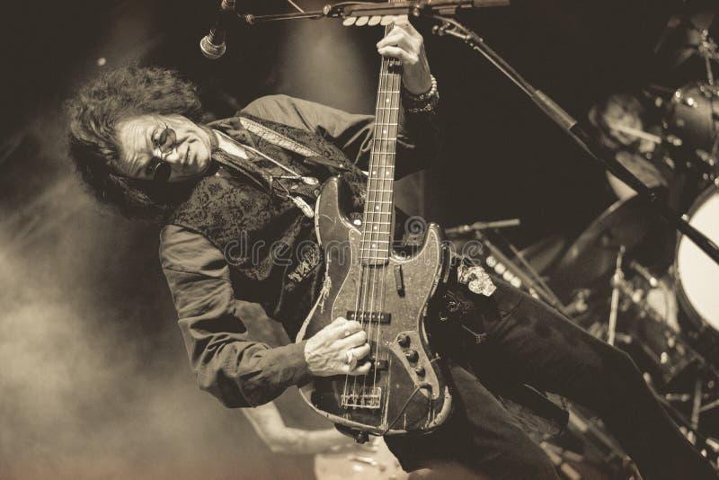 Glenn Hughes vive nel giro di concerto 2017, immagini stock libere da diritti