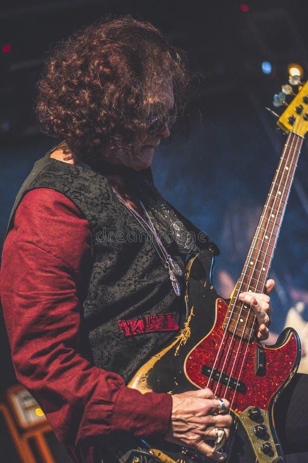 Glenn Hughes vive nel giro di concerto 2017, immagini stock