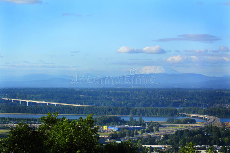 Glenn Jackson I-205 Bridge Under Mt St Helens royalty free stock photo