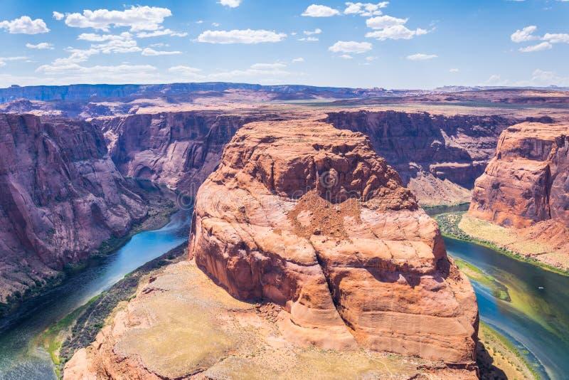 Glenn jar i Kolorado rzeka Wąwóz podkowy zespół Arizona atrakcje turystyczne zdjęcia royalty free