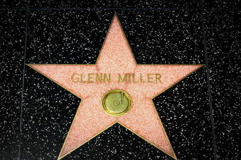Glenn Miller Star auf dem Hollywood-Weg des Ruhmes stockfotos