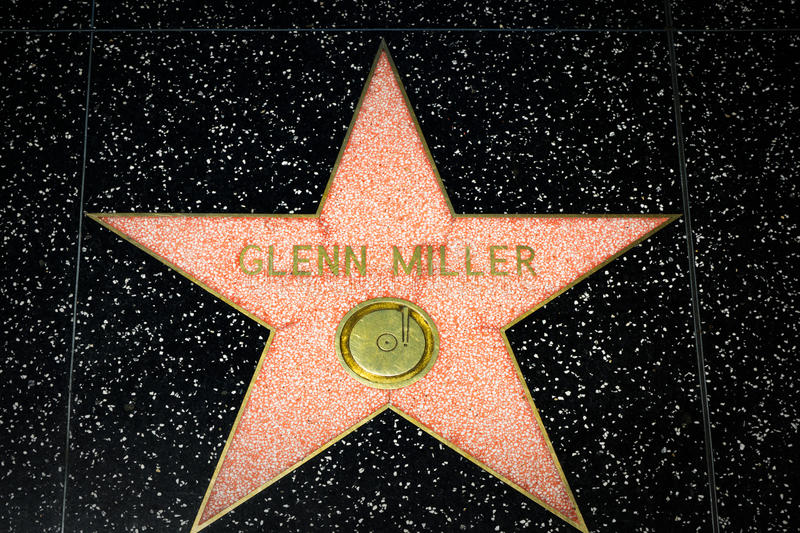 Glenn Miller Star op de Hollywood-Gang van Bekendheid stock foto's