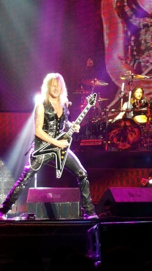 Glenn Tipton con Judas Priest fotografie stock