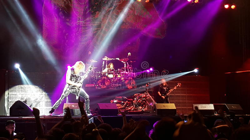 Glenn Tipton und Judas Priest lizenzfreies stockbild
