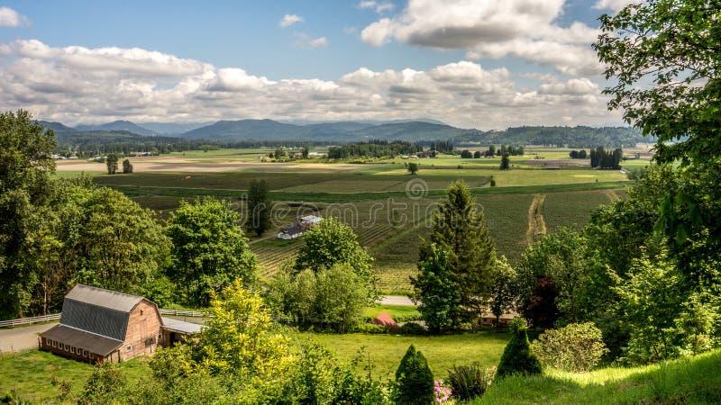 Glenn Valley in Fraser Valley stockfotos