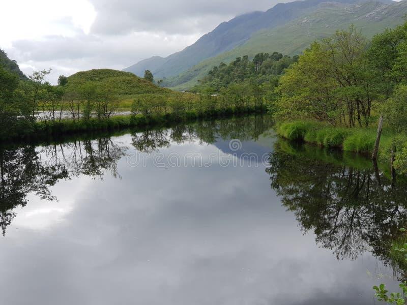 Lake and mount, nature stock photo
