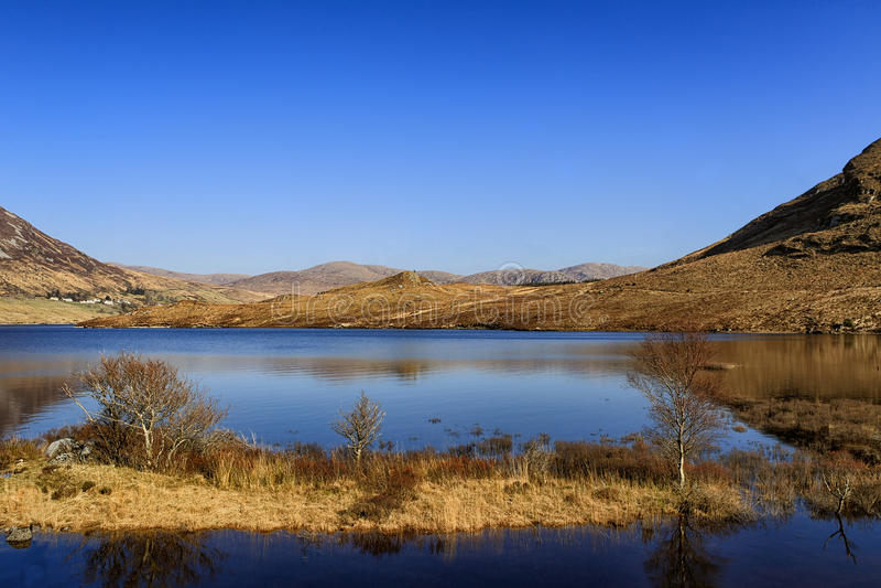 Glenveagh国家公园, Co Donegal,爱尔兰 免版税库存图片