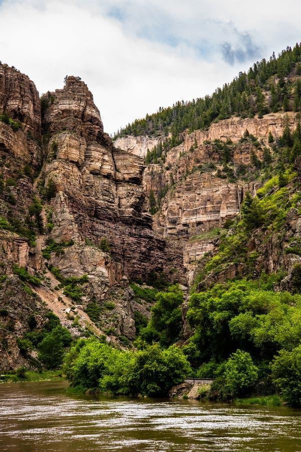 Glenwood峡谷在科罗拉多 免版税库存照片