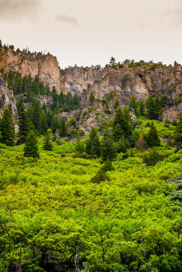 Glenwood峡谷在科罗拉多 免版税库存图片