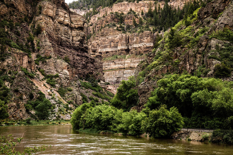 Glenwood峡谷在科罗拉多 库存照片