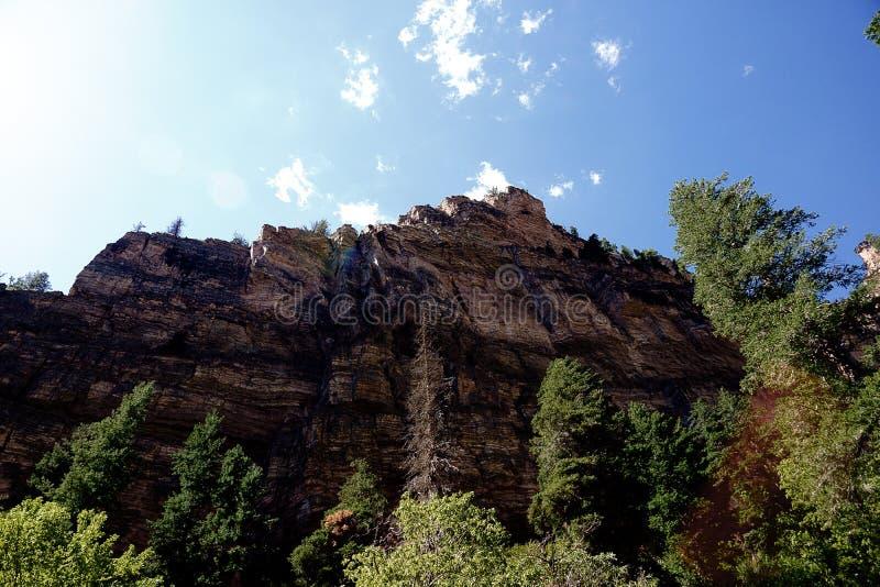 Glenwood峡谷屏障 免版税图库摄影
