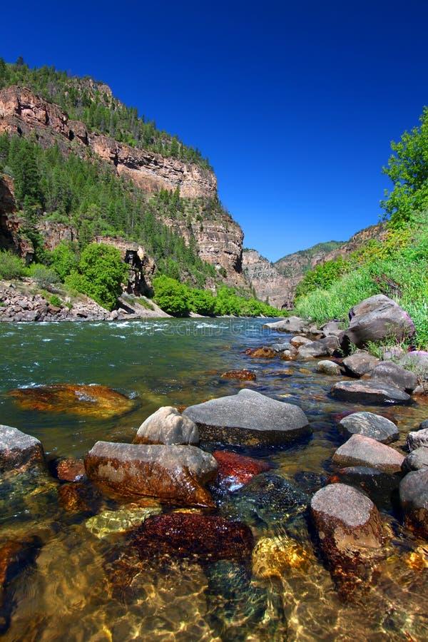 Glenwood峡谷的科罗拉多河 库存照片